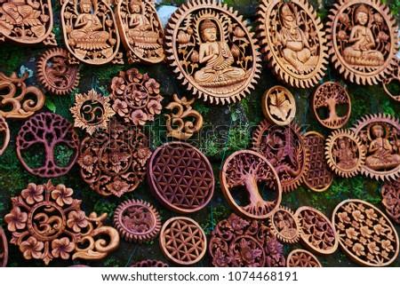 Traditional Souvenirs Handicrafts Bali Famous Ubud Stock Photo Edit