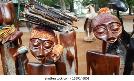 Traditional souvenirs from Maputo, the capital of Mozambique, Africa