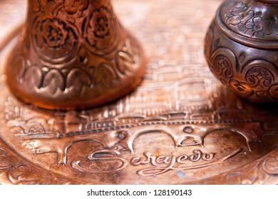 Traditional souvenirs from Sarajevo, Bosnia and Herzegovina.