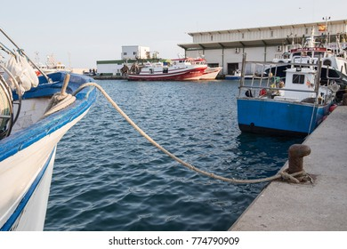Traditional Spanish fishing harbour, Garrucha, Almeria Province, Costa Almeria, Andalusia, Spain, Western Europe on September 15, 2017.