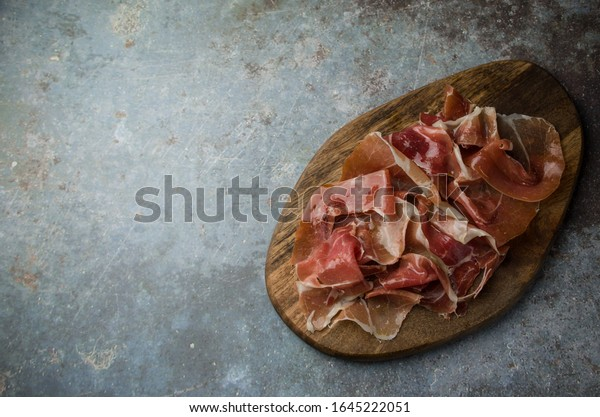 Traditional Spanish ham Serrano Tapas