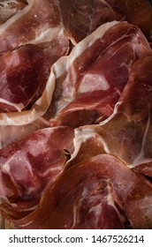Traditional Spanish ham tapas, texture