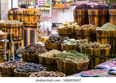 Traditional spices bazaar with herbs and spices in Luxor or Aswan, Egypt