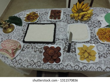 Traditional Sri Lankan Sinhala And Tamil New Year Sweets on the table