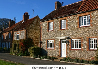 Traditional stone and flint cottages