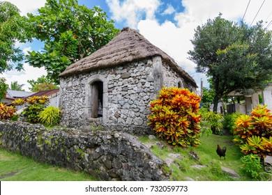 Traditional stone house at Batan Island, Batanes, Philippines