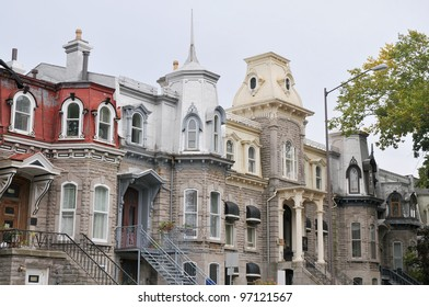 Traditional stone houses in old Quebec City, Quebec, Canada.
