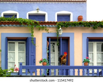 Traditional style colored house of Alonissos, Greece