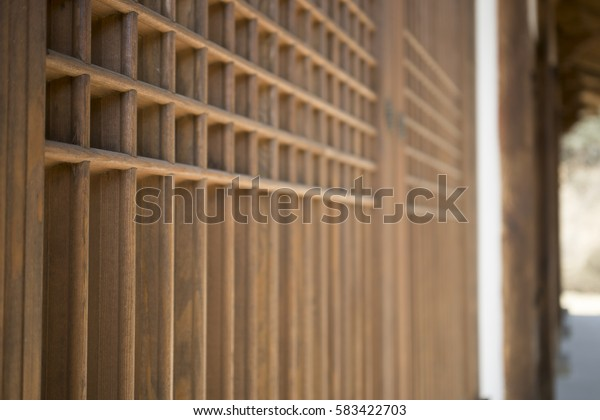 the traditional style door of korea. it's made by wood frame and durable paper especially for the door or window.