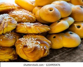 Traditional Swedish Christmas saffron buns