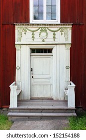 A Traditional Swedish farmhouse entrance from the 18th century.