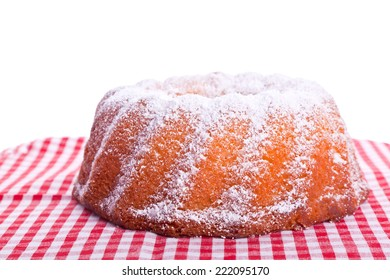 traditional sweet bundt cake with powder sugar