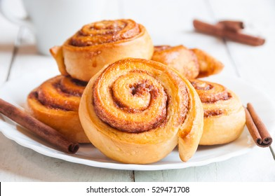 Traditional sweet homemade cinnamon rolls