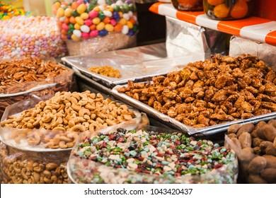 traditional sweets candy shop in mexican market