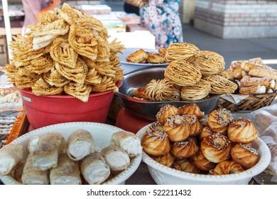 Traditional sweets Uzbecos. Uzbekistan
