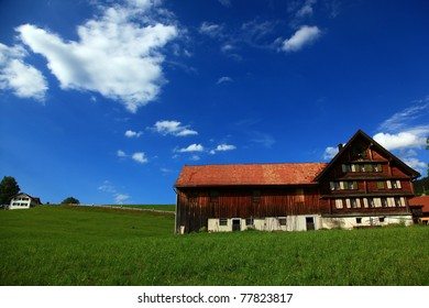 Traditional Swiss rural house in Appenzell region