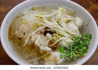 The traditional Tainan food, Boiled-Spearfish Thick Soup, in Taiwan.