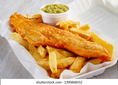 traditional take away fish and chips
