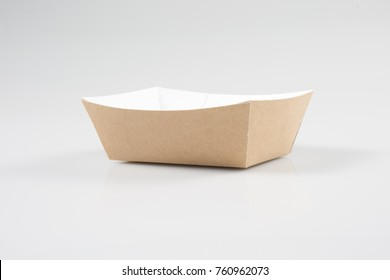A traditional take out box from takeaway restaurant, on a white background