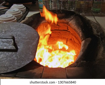 Traditional Tandoor Bread fire