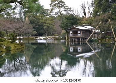 Traditional Tea House, Kenroku-en Garden, Kanazawa, Japan