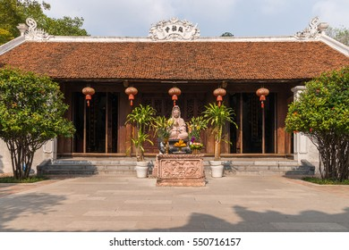 The traditional temple at the famous One Pillar Pagoda in Vietnams capital Hanoi