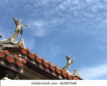 Traditional temple roof in Taiwan