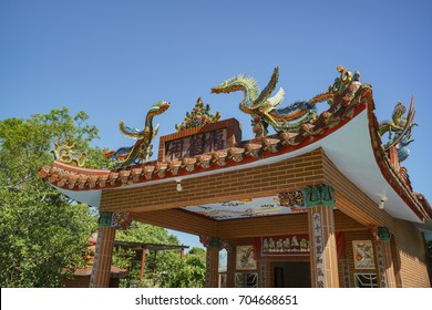 Traditional temple at Sixty Stone Mountain, Hualien, Taiwan