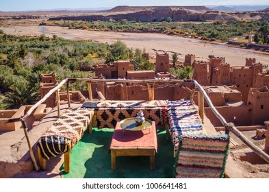 traditional terrace atop ait ben haddou village