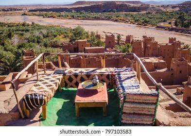 traditional terrace atop ait ben haddou village