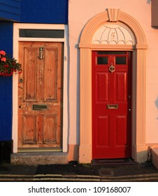 traditional terraced house doors