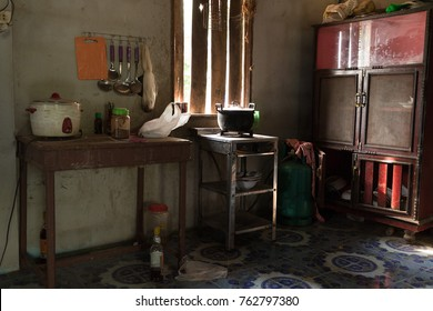 Traditional Thai countryside kitchen in Isaan, Thailand