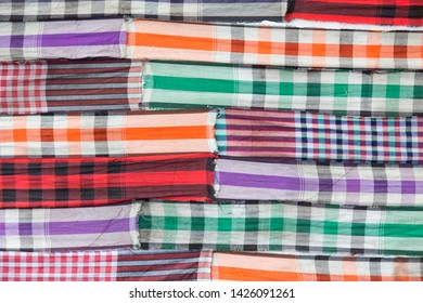 Traditional (Thai loincloth) Colorful fabric is a versatile.