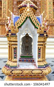Traditional Thai style art in temple.