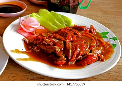 Traditional Thai style food, Spiced duck