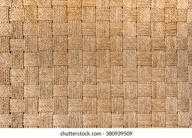 traditional Thai style pattern nature background of brown handicraft weave texture wicker surface for furniture material.