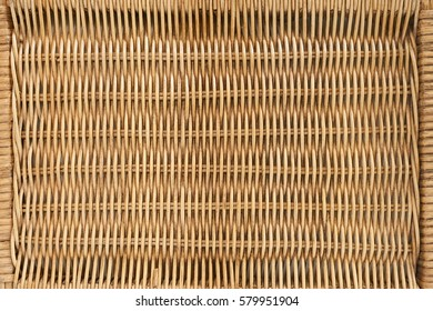traditional thai style pattern nature background of brown handicraft weave texture wicker surface for furniture material. rattan weave for background