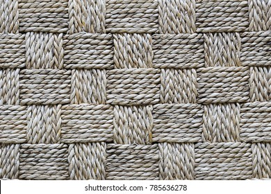 Traditional Thai style pattern nature background of brown handicraft weave texture rattan& wicker surface for furniture material.