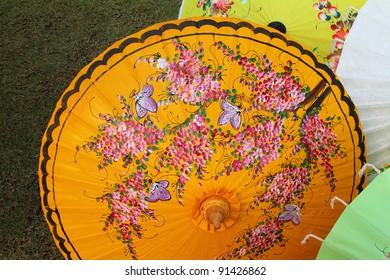 Traditional Thai style Texture on Umbrella