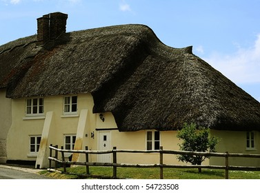 Traditional Thatched Cottage in Rural England.