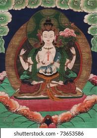 Traditional Tibetan Style Buddhist Painting
