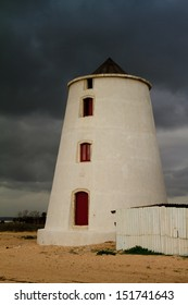 Traditional tide mill in the city of Barreiro. Portugal.