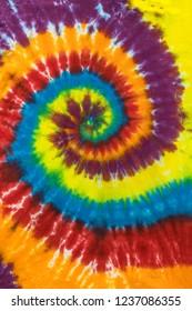 Traditional Tie Dye Swirl, Spiral Pattern
