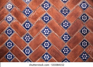 Traditional tiles in Puebla, Mexico