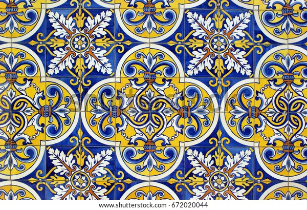 Traditional tiles in Santa Eulalia church, Pacos de Ferreira, north of Portugal