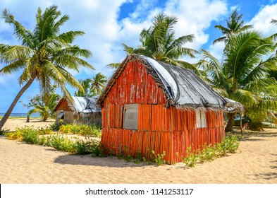 Traditional tongan house/resort on the beach in Uoleva Island, Ha'apai group, Tonga