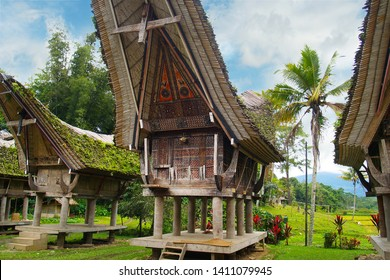 Traditional Tongkonan houses,Toraja house in the south Sulawesi -Indonesia