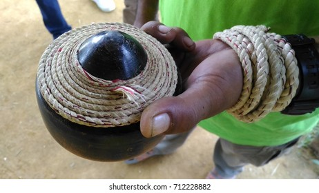 "Traditional Top Spinner or also known as ""Gasing Pahang"" among local people of Malaysia. This top spinner is ready to be spinned."