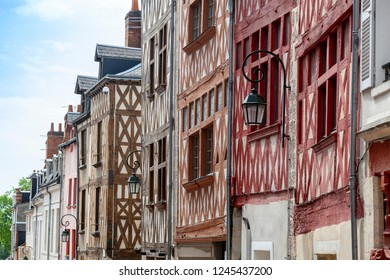 Traditional town houses in Orléans, France