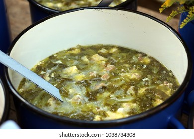 traditional transylvanian salad sour soup